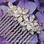 Swarovski Crystal Floral Wedding Hair Comb