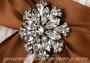 Swarovski Crystal Round Florette Wedding Brooch