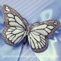 Enamel Butterfly Brooch - Wedding Accessory
