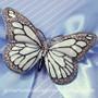 Enamel Butterfly Brooch - Wedding Accessory