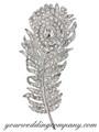 Clear - Swarovski Crystal Feather Brooch