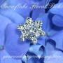 Rhinestone Snowflake Floral Picks - Wedding Bouquet