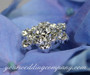 Rhinestone Snowflake Floral Picks - Side View