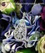 Floral-Drop Swarovski Crystal Pendant Necklace