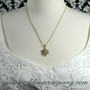 Gold & Crystal Snowflake Pendant Necklace