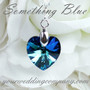 Something Blue Swarovski Heart Charm