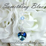 Something Blue Swarovski Heart Bouquet Charm