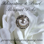 Rhinestone & Pearl Bouquet Picks