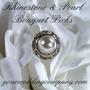 Rhinestone & Pearl Bouquet Picks
