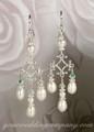 Teardrop Pearl Chandelier Earrings