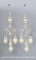 Teardrop Pearl Chandelier Bridal Earrings