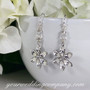 Crystal Flower Bridal Earrings