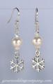 Winter Snowball & Snowflake Earrings