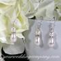 Teardrop Pearl Wedding Necklace & Earrings Set