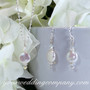 Coin Pearl Bridal Necklace & Earrings Set