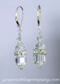 Crystal Squaredelle Bridal  Earrings
