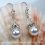 Swarovski Pearl Drop Bridal Earrings