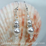 Crystal Pearl Drop Bridal Earrings