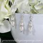 Crystal Pearl Drop Bridal Earrings