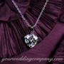 CZ Heart Wedding Necklace