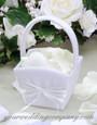WHITE Flower Girl Basket - Design Your Own