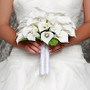 David Tutera Rhinestone Edge Satin Bouquet Wrap
