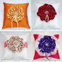 Custom Color Floral Ring Pillow