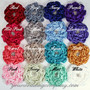 Satin & Crystal Flower Clip - Flower Color Options