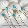 Swarovski Crystal Hairpins (Blue)