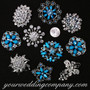 Crystal Brooch Lot #15 (Blue & Clear Stones)