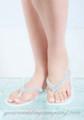 Crystal Gumdrop Bridal Flip Flops - White Sandals