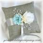 Beach Flowers Ring Pillow