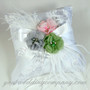 Floral Ostrich Feather Ring Pillow