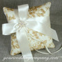 Gold Lace Ring Pillow