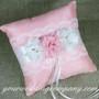 Handmade Floral Dupioni Silk Ring Pillow