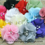 Handmade Floral Dupioni Silk Ring Pillow - Flower Color Options