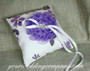 Lavender Floral Ring Pillow