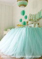Dessert Table Decorated with Tulle Fabric