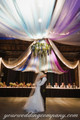 Ceiling Draping with Tulle Fabric