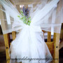 Tulle Fabric Pew Draping