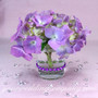 Votive Candle with Purple Gem Stickers