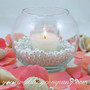 Beach Themed Votive Candle Wedding Centerpiece