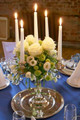 Taper Candles in Candelabra
