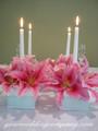 Wedding Centerpiece - White Premium Taper Candles