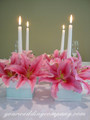 Wedding Centerpiece - White Premium Taper Candles