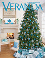 Glittered Snowflakes on Veranda Magazine Cover