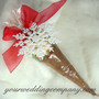 Hot Chocolate with White Glittered Snowflake Ornament