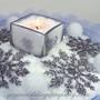 Wedding Centerpiece using Glittered Snowflakes