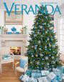 Glittered Snowflakes on Veranda Magazine Cover