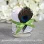 Peacock Feather - Wedding Candle Decoration
